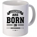 "Cana personalizata ""Legends are born in December"""