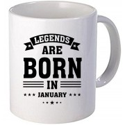 "Cana personalizata ""Legends are born in January"""