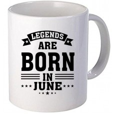 "Cana personalizata ""Legends are born in June"""