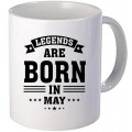 "Cana personalizata ""Legends are born in May"""