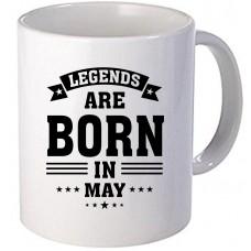 """Cana personalizata """"Legends are born in May"""""""