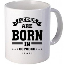 "Cana personalizata ""Legends are born in October"""