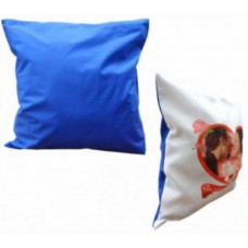 Perna personalizata, forma patrata, alb-albastra