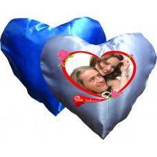 Perna inima, alb-albastra