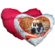 Perna inimioara personalizata, culoare alb-rosu
