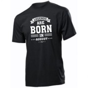 "Tricou personalizat ""Legends are born in August"", culoare negru, bumbac 100 %"
